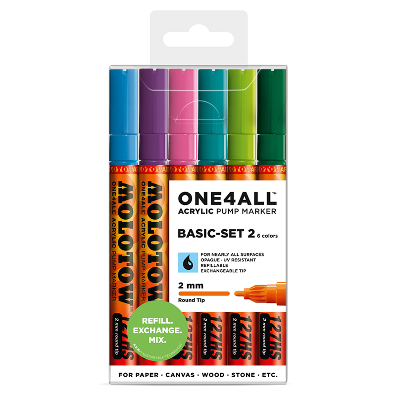 ONE4ALL™ 127HS 2mm 6x - Basic Set 2 - Clearbox