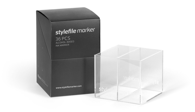 Acrylic empty box Stylefile Marker 36er