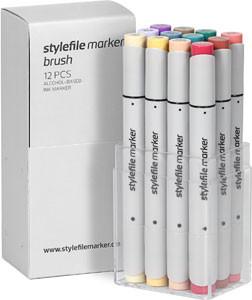 STYLEFILEMARKER 12 Brush main C set
