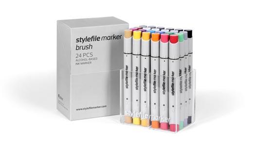 Stylefile Marker Brush 24 pcs set Main A