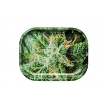 AK 47 Strains Metal Rolling Tray, Small