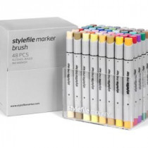 Brush Stylefile Marker 48 pcs set Extended