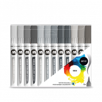 AQUA COLOR BRUSH 12x GREY SET - Clear Box