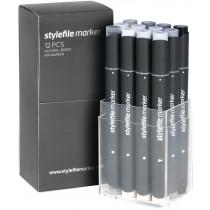 STYLEFILEMARKER 12 cool grey set