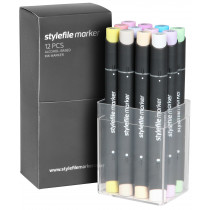STYLEFILEMARKER 12 pastell set