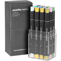 STYLEFILE MARKER 12PCS SET MULTI21