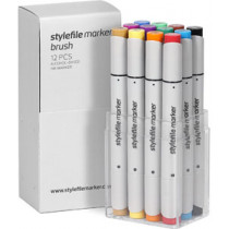 STYLEFILEMARKER 12 Brush main A set
