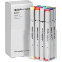 STYLEFILEMARKER 12 Brush main B set