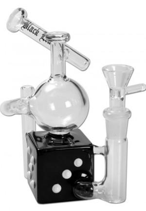 BLACK LEAF RECZCLE DICE GLASS PIPE